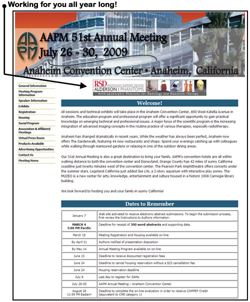 AAPM 51st  Annual Meeting Banner Advertising