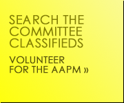 Volunteer for the AAPM